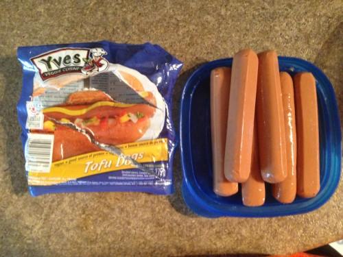 Un paquet de saucisses Yves